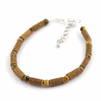 Hazelwood & Natural Jasper Gemstone Anklet