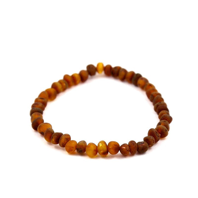 Raw Baltic Amber Nutmeg Bracelet