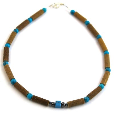 Hazelwood & Turquoise Gemstone Necklace
