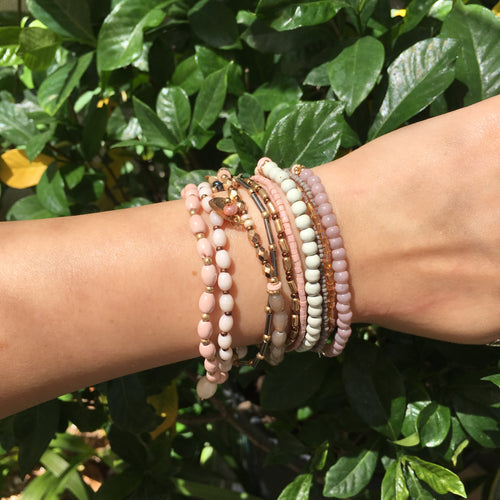 Adorable Pink Bracelet Set