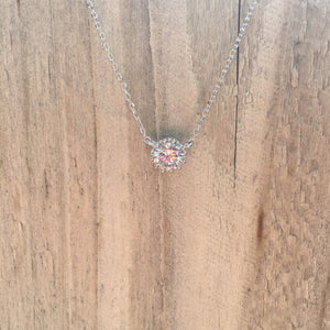 Rhinestone Circle Necklace