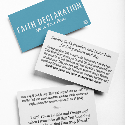 Faith Declaration Cards (PRE-ORDER)