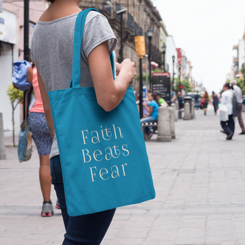 Faith Beats Fear Canvas Bag