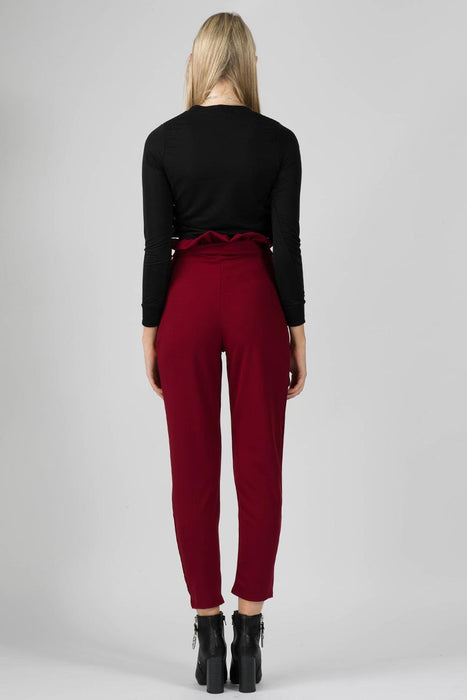 Carmen Cigarette Trousers Wine