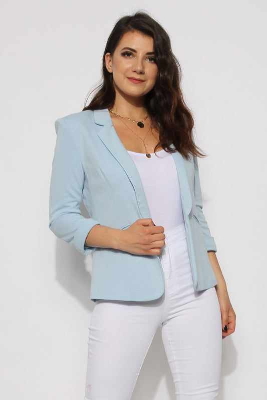 Tailored Baby Blue Blazer