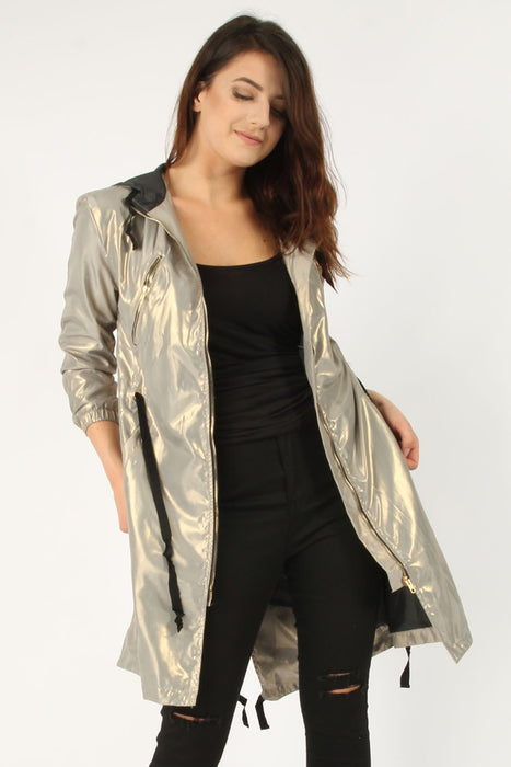 Metallic Parker Jacket