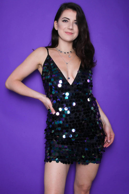 Disc Sequin Cami Dress