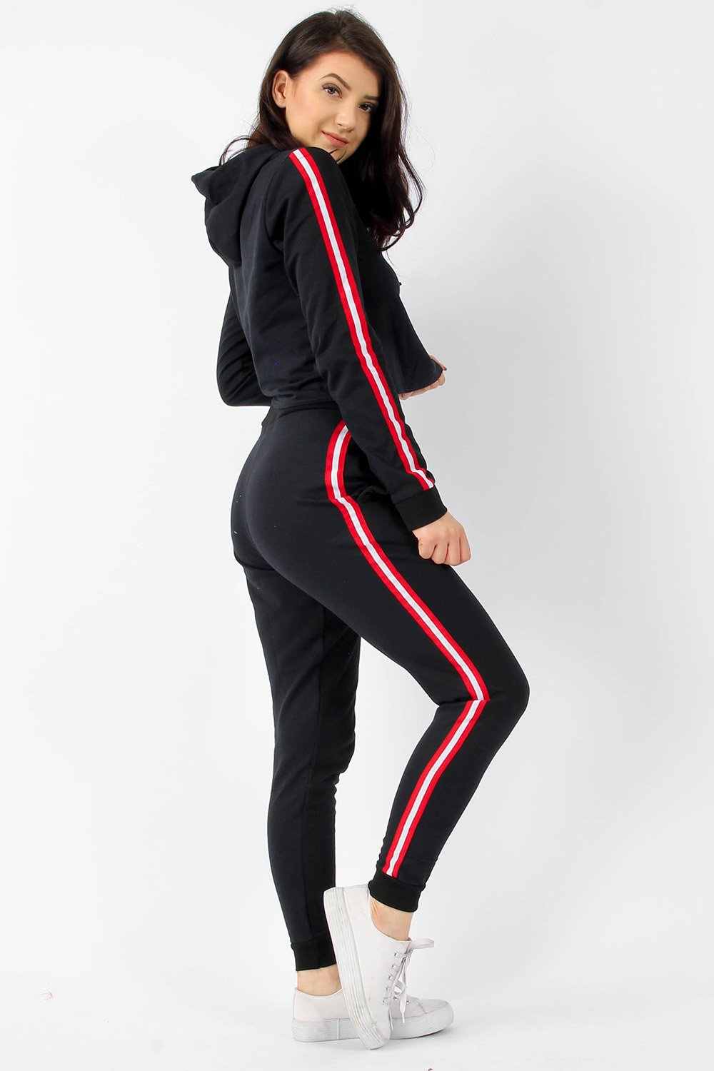 Stripe Black Lounge Tracksuit