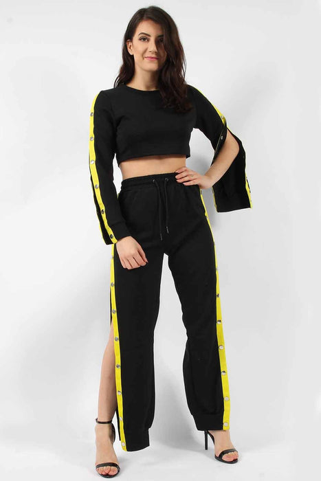 Yellow Popper Top & Jogger Lounge Suit
