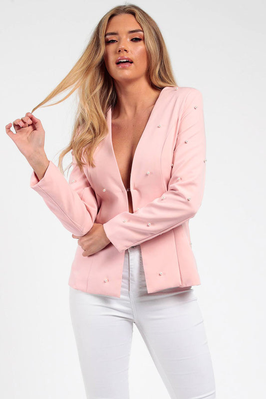 Nude Pearl Tailored Blazer