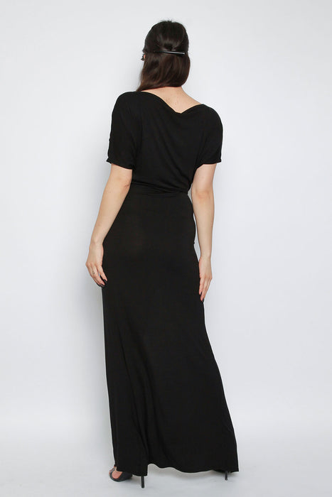 Basic Split Maxi Dress