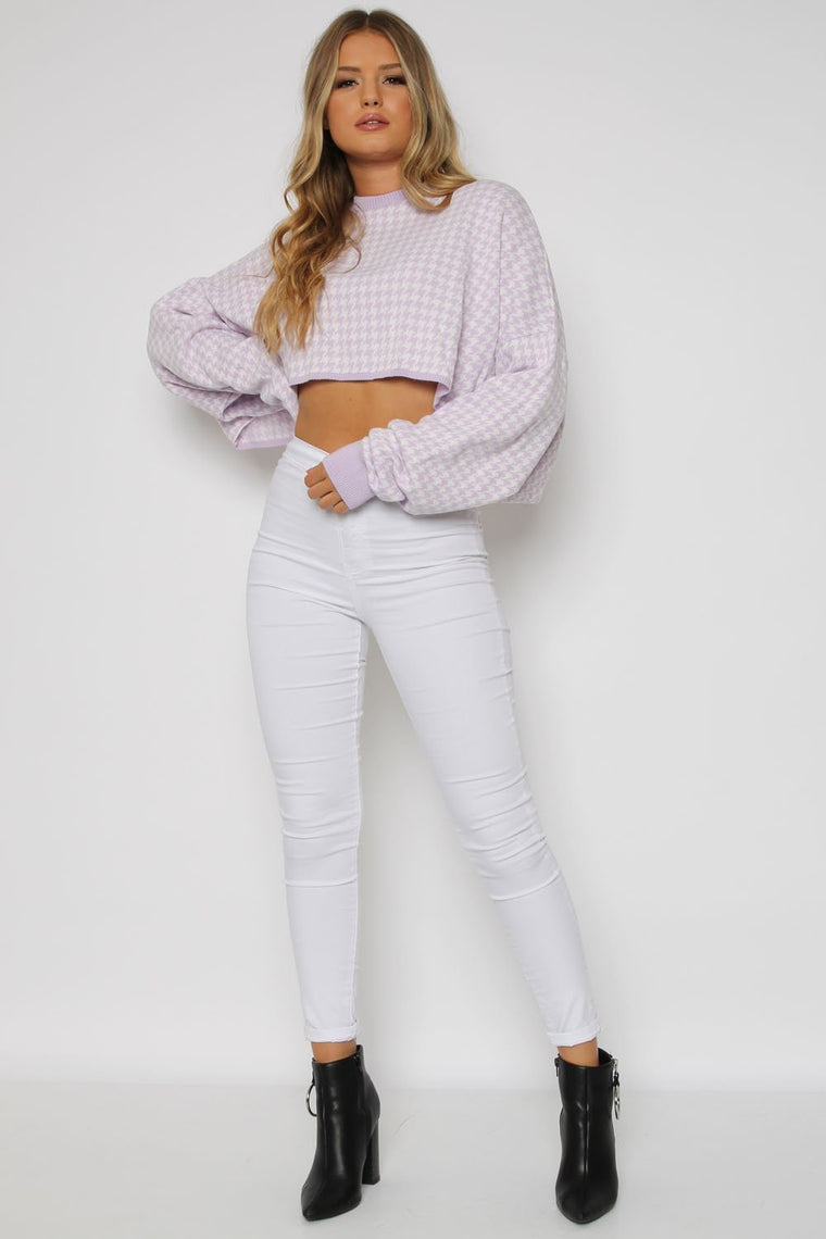 Kady Lilac Cropped Knitted Top