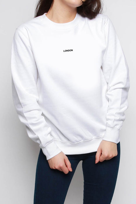 Travel Destinations Slogan Oversized Sweatshirt