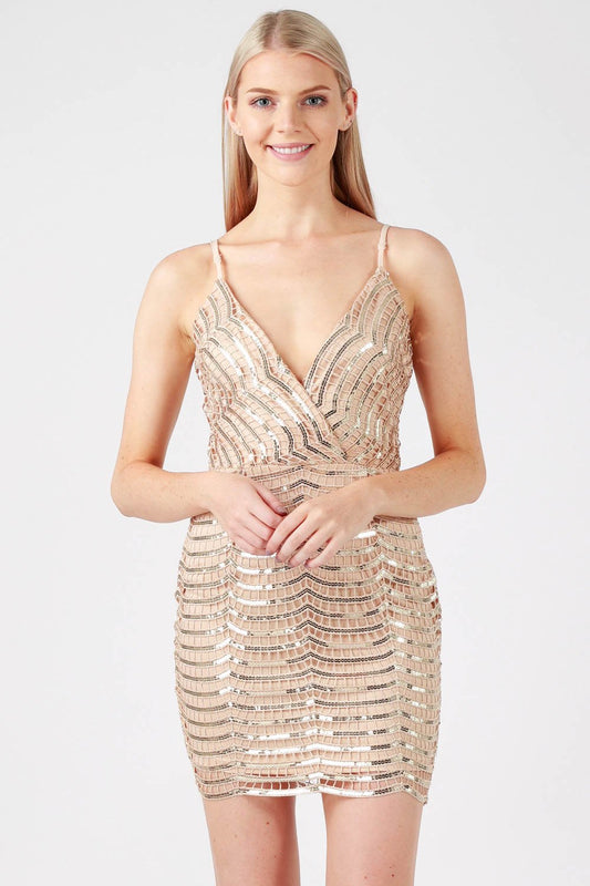 Sequin Lace Cami Dress
