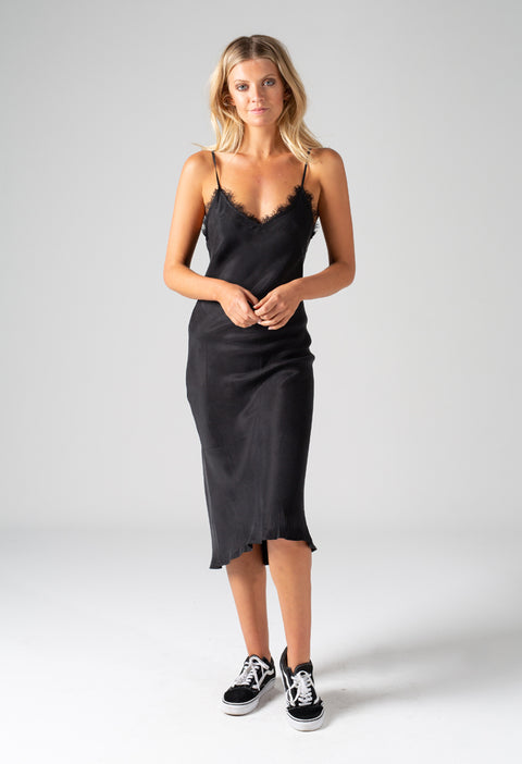 EMILY SLIP DRESS - BLACK