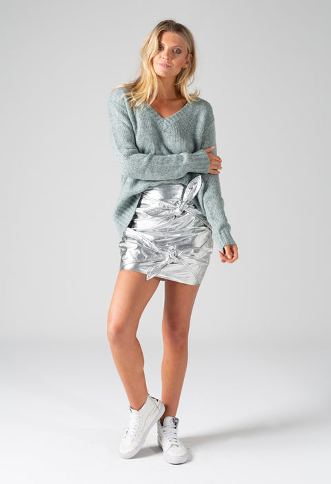 EVA V NECK KNIT - MINT
