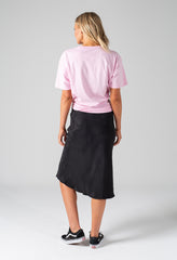 bias skirt black - back