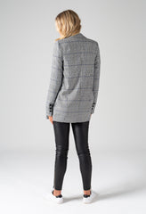 CAMERON BLAZER - BLACK / WHITE / BLUE CHECK
