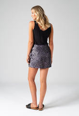 SHELBY SKIRT - FEATHER PRINT