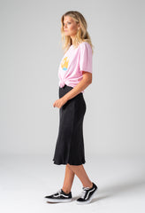bias skirt black - side
