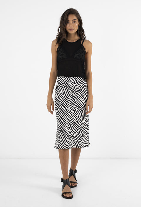 BIAS SKIRT - ZEBRA