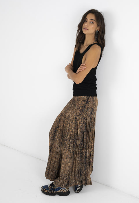 BOWIE PLEATED SKIRT - COCO SAFARI