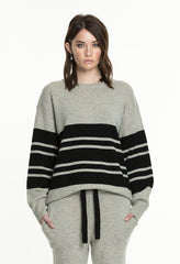 COLLEGE KNIT - GREY