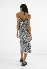 EMILY SLIP DRESS - ZEBRA