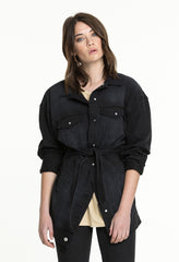 RAMONA DENIM JACKET - BLACK