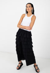 WAVES SKIRT - BLACK