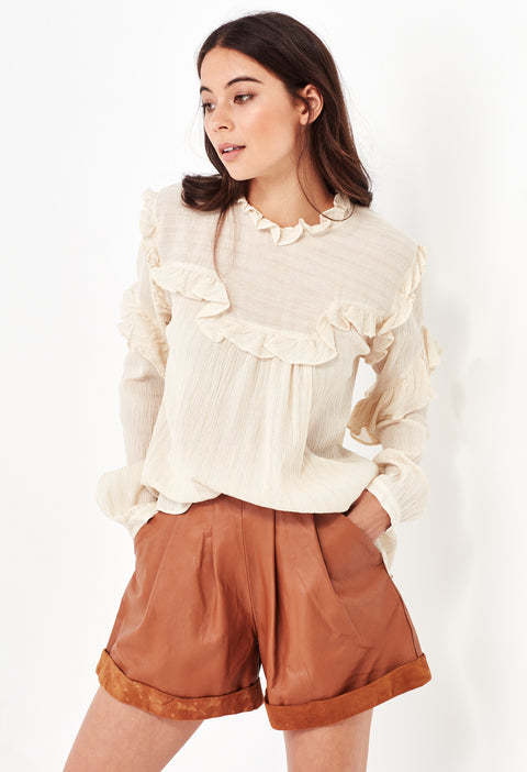 HEATHER SHIRT - CREAM/GOLD