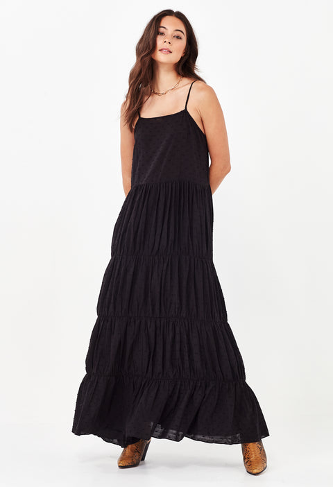 YASMIN MAXI DRESS - BLACK