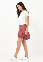 FLORENCE MINI SKIRT - RED MEADOW