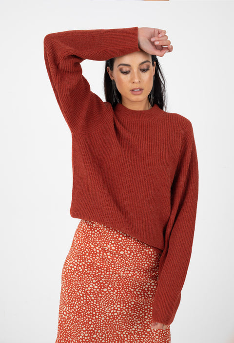 HARPER KNIT - TOASTED RED