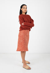 BIAS SKIRT - TOASTED RED DOT