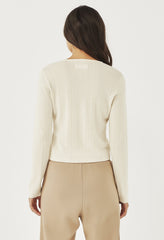 AMBER HENLEY LONG SLEEVE - IVORY