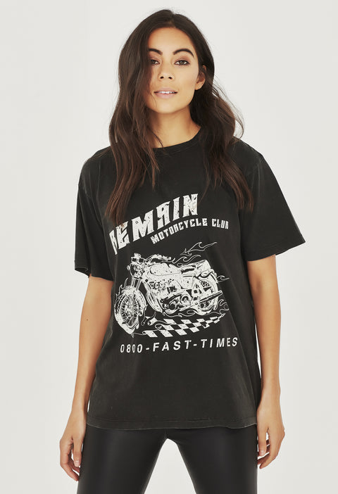 REMAIN MC TEE - AGED BLACK