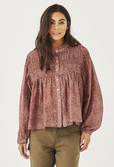 SYLVIE SHIRT - ROSE LEOPARD