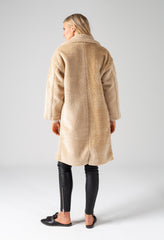 SHEARLING COAT - OAT
