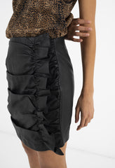 SHELBY SKIRT - BLACK LEATHER