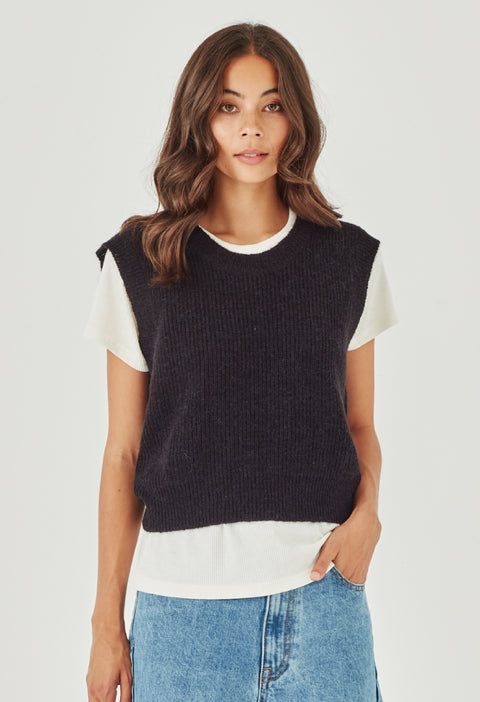 HARPER SWEATER VEST- BLACK | PRE ORDER| DELIVERY EARLY JULY