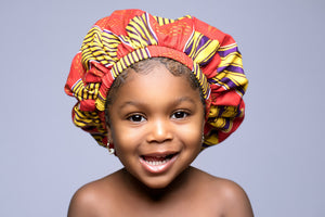 "Makaila ""KIDDIES"" Ankara Bonnet"