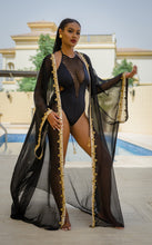 "Raissa ""Spade"" Hand-Beaded Coverup"