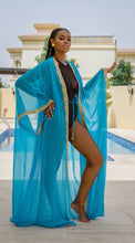 "Raissa ""Teal"" Hand-Beaded Coverup"