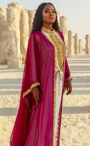 "Kismath ""Berry"" Kaftan/Abaya Set"