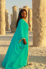 "Kismath ""TEAL"" Kaftan/Abaya Set"