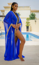 "Raissa ""Royal"" Hand-Beaded Coverup"