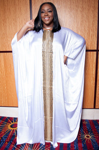 """ WHITE DUCHESS"" Handstonned Kaftan"