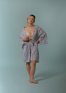 The Everyday Short Robe in Weightless Purples