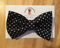 Black Mini Polka Dots Bow Tie